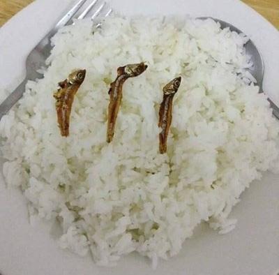 Thế này cũng xong một bữa, cũng đủ cơm- cánhư ai.