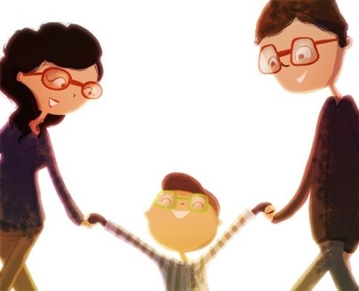 Và khi tình yêu đơm hoa kết trái, hạnh phúc là khi cả gia đình cùng nhau chơi đùa.