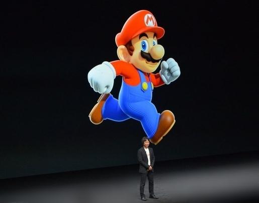 Game Super Mario được giới thiệu trong buổi ra mắt iPhone 7 của Apple. (Ảnh: internet)