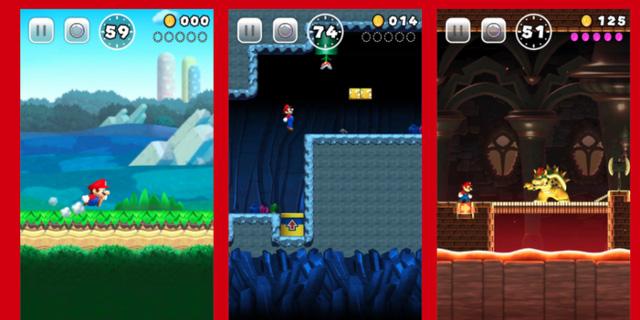Hình ảnh trong game Super Mario Run. (Ảnh: internet)