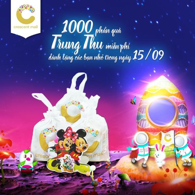 1.000 phần quà đặc biệt được Crescent Mall chuẩn bị dành tặng các bé trong ngày Trung Thu.
