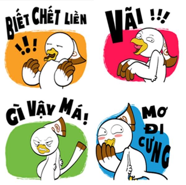 Chin & Su còn gây ấn tượng với những icon mang đậm ngôn ngữ tinh nghịch của giới trẻ Việt.