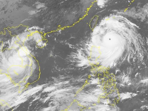 Hình ảnh mây vệ tinh của siêu bão Meranti. (Ảnh:Trung tâm Dự báo Khí tượng Thủy văn Trung ương)