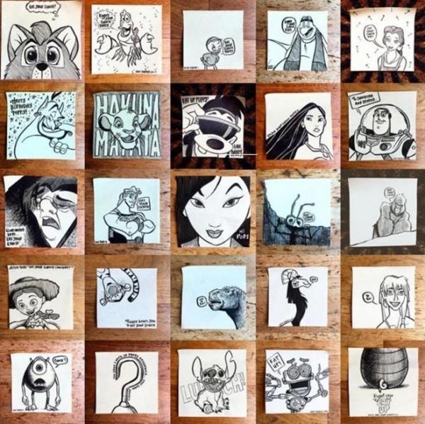 Biddulph đã đóng khung 150 bức vẽ đem trưng bày tại một triển lãm nhỏ ở London.(Ảnh: Internet)