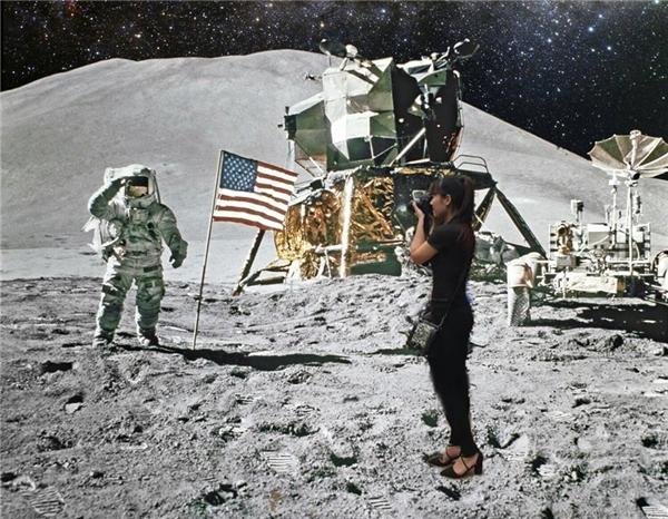 Cô gái Việt Nam đầu tiên không cần quần áo bảo hộ cũng đứng được trên mặt trăng đi cho đặc biệt.(Ảnh: Internet)