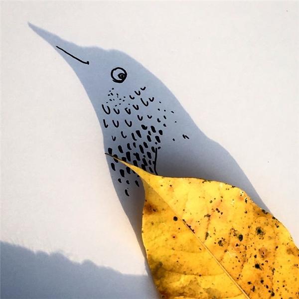 Khi chiếc lá bỗng nhiênbiến thành đôi cánh lộng lẫy của mộtchú chim trời.