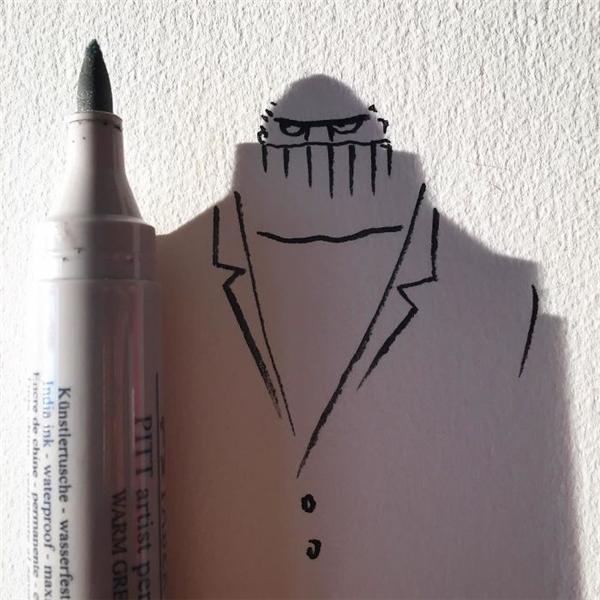 Dáng vẻ của câybút lông rất thích hợpđể tạo ra một tên khủng bố khét tiếng.