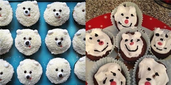 Gấu trắng đáng yêu rồi cũng thành... anh hề ngộ nghĩnh, kể ra tôi cũng có chút khiếu hài hước đấy chứ.(Ảnh: BuzzFeed)
