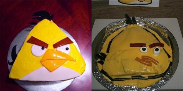 Từ chim giận dữ thành chim khó xử...(Ảnh: BuzzFeed)