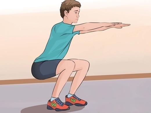 Những động tác thể dục đơn giản giúp cho máu huyết được lưu thông dễ dàng.