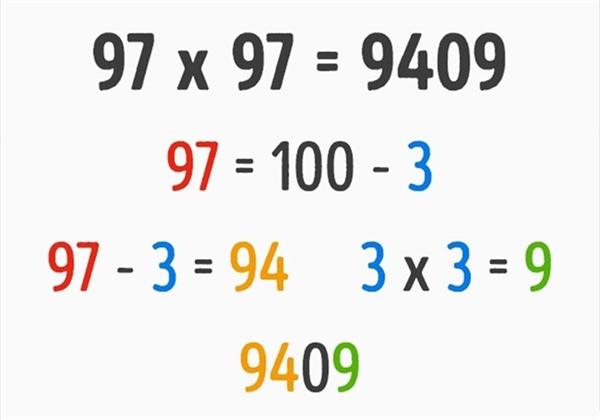Với phép nhân hai thừa số bằng nhau có chữ số hàng chục là 9, bạn có thể dễ dàng tìm ra đáp án với cách tính nhẩm này.