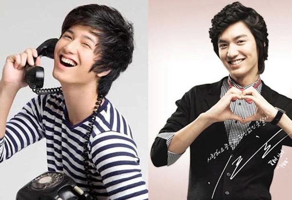 """Huỳnh Anh và Lee Min Ho với mốt tóc xoăn Hàn Quốc từng """"làm mưa làm gió"""" một thời."""