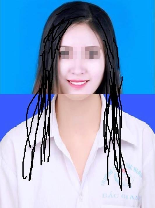 """Cách mà các """"thánh photoshop"""" sửa cho cô ấy có áo sơ mi và tóc đen.(Ảnh: Internet)"""