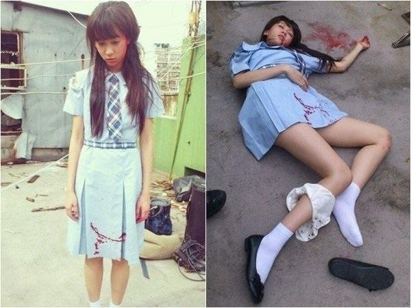 Thiên Hân đóng vai một nữ sinh bị cưỡng hiếp trongGiải mã nhân tâm.