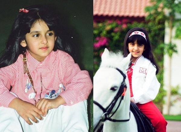 Nàng công chúa nhỏ Shaikha đã bộc lộ niềm đam mê cưỡi ngựa ngay từ khi còn rất nhỏ.