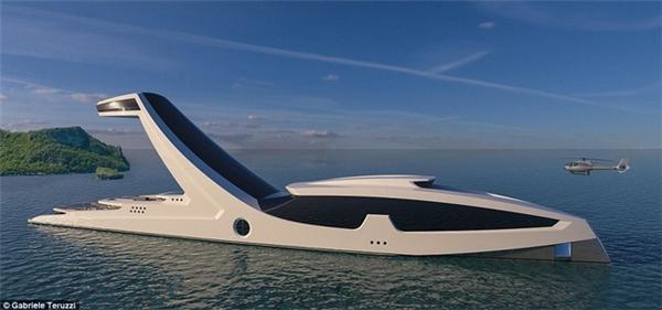 Siêu du thuyền Shaddai caohơn 38m giúpdu khách có thể chạm tay vào bầu trời ngay giữa biển khơi.