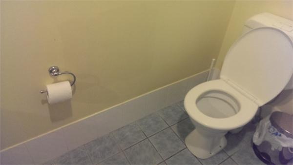"""""""Thưa kiến trúc sư, có lẽ ngài đã đánh giá quá cao độ dài cánh tay của những người sử dụng cái toilet này thì phải""""."""