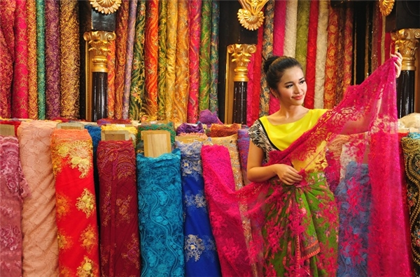 Vải Batik nổi tiếng tại Indonesia.