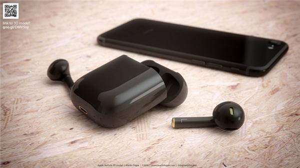 """Tai nghe Jet Black kết hợp với iPhone 7 Jet Black thì đúng là một""""bộ đôi hoàn hảo"""". (Ảnh: internet)"""