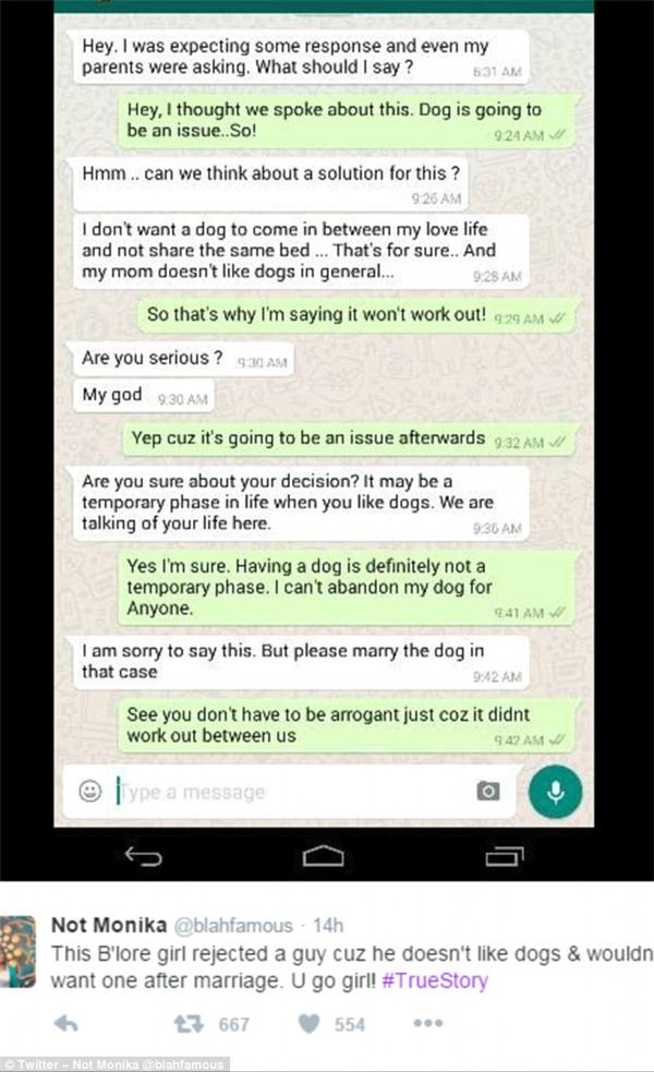 Vì chồng tương lai không thích nuôi chó, cô gái đã quyết định không cưới xin gì nữa hết!