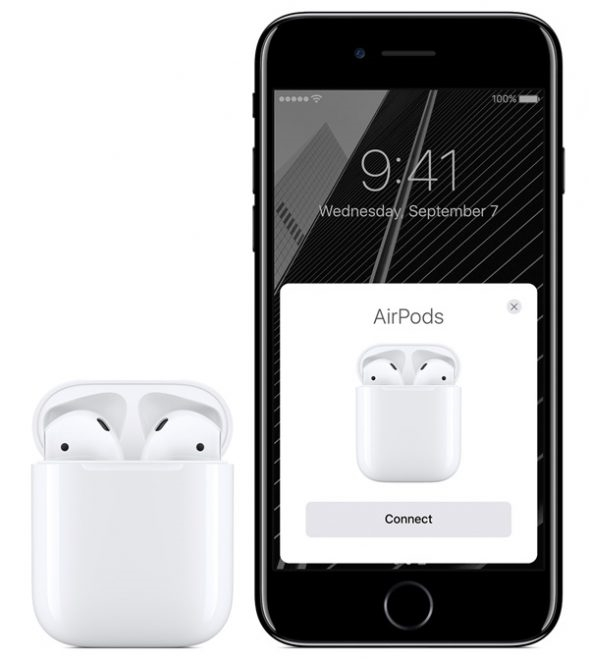 iPhone sẽ báo chính xác dung lượng pin của Airpods. (Ảnh: internet)