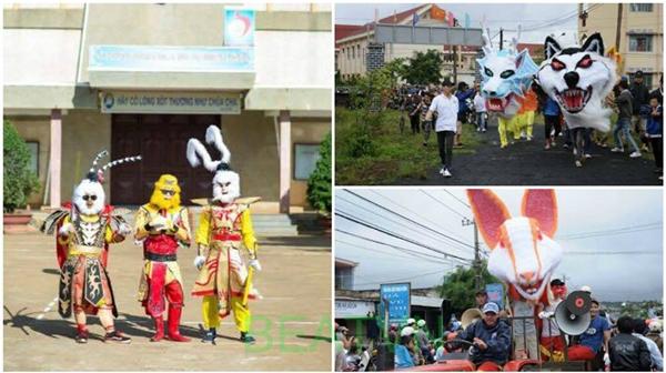 Được biết, đây là lễ Trung thu tại một vùng quê ởĐắk Lắk. Tất cả đều là sự sáng tạo của các bạn trẻ.