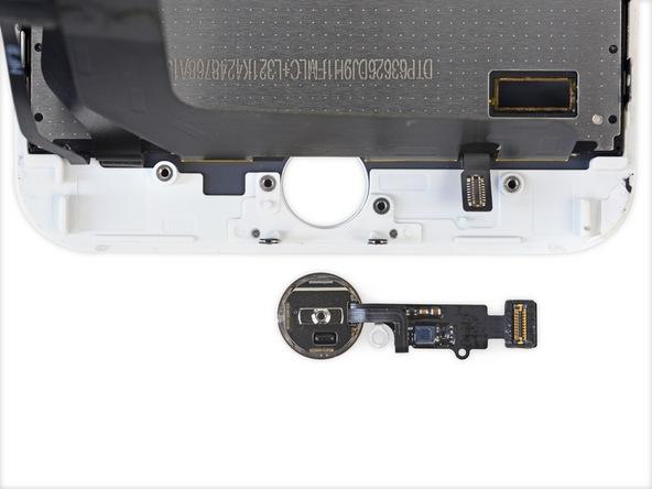Việc tháo nút Home của iPhone 7 Plus được thực hiện rất dễ dàng.(Ảnh: iFixit)