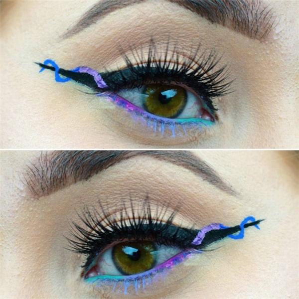 Trào lưu kẻ eyeliner xoắn ốc đang khiến chị em rần rần học hỏi