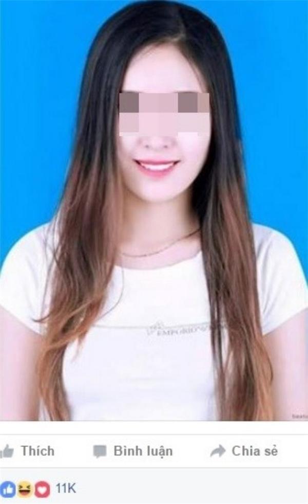 Bức ảnh chụp chân dung củaĐỗ Mai Trang bị tung lên mạng xã hội. Ảnh cắt từ facebook