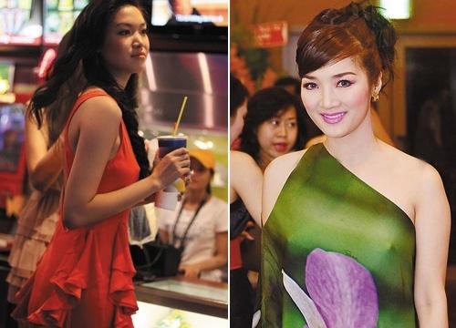 Hoa hậu Thùy Dung và Giáng My nhận nhiều lời chỉ trích khi chọn phong cách ăn mặc táo bạo này.
