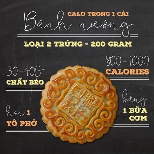 Năng lượng khổng lồ từ chiếc bánh Trung thu sẽ khiến bạn tăng cân nhanh chóng.