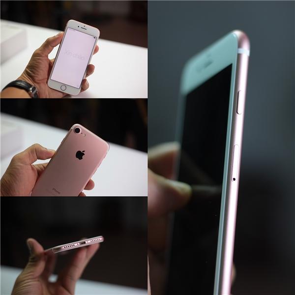 Kích thước iPhone 7 giống như iPhone 6 và 6s, tuy nhiên trọng lượng có cảm giác nặng hơn và cầm chắc tay hơn.