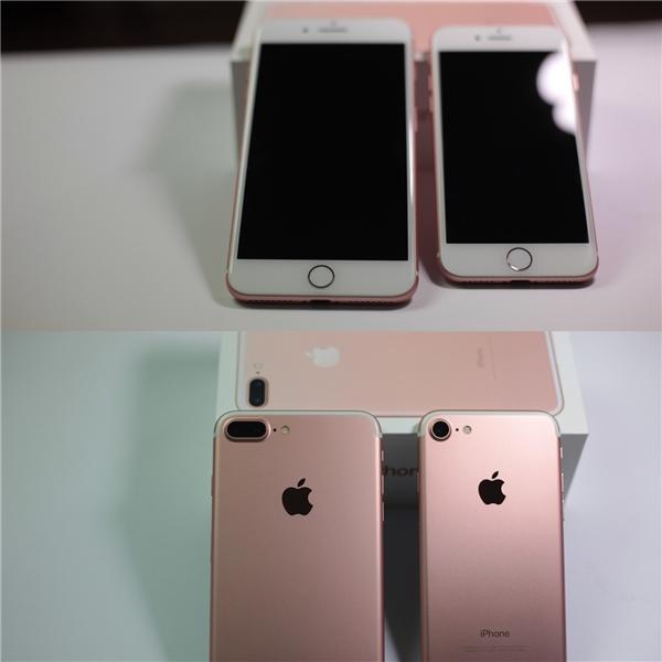 Mặt trước và sau cặp song sinh iPhone 7 vàiPhone 7 plus