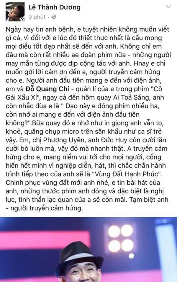 Ngô Kiến Huy có rất nhiều kì niệm với Minh Thuận khi cùng đàn anh tham gia nhiều dự án âm nhạc, điện ảnh. - Tin sao Viet - Tin tuc sao Viet - Scandal sao Viet - Tin tuc cua Sao - Tin cua Sao