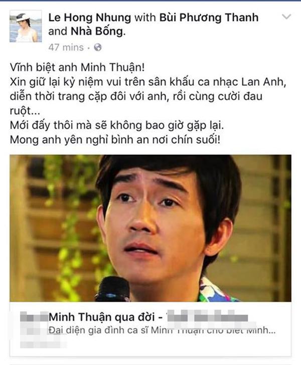 Hồng Nhung và những kỉ niệm ùa về với Minh Thuận. - Tin sao Viet - Tin tuc sao Viet - Scandal sao Viet - Tin tuc cua Sao - Tin cua Sao