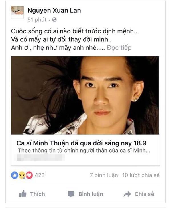Các nghệ sĩ đều bàng hoàng, thương tiếc cho Minh Thuận. - Tin sao Viet - Tin tuc sao Viet - Scandal sao Viet - Tin tuc cua Sao - Tin cua Sao