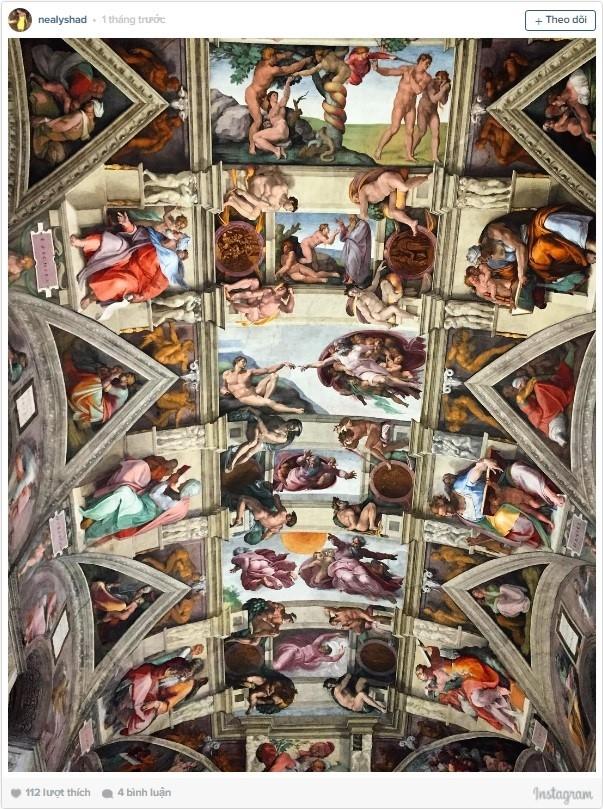 Nhà nguyện Sistine không chỉ là nơi lý tưởng để nguyện cầu mà còn là không gian tĩnh lặng để bạn nghiên cứu, chiêm nghiệm.
