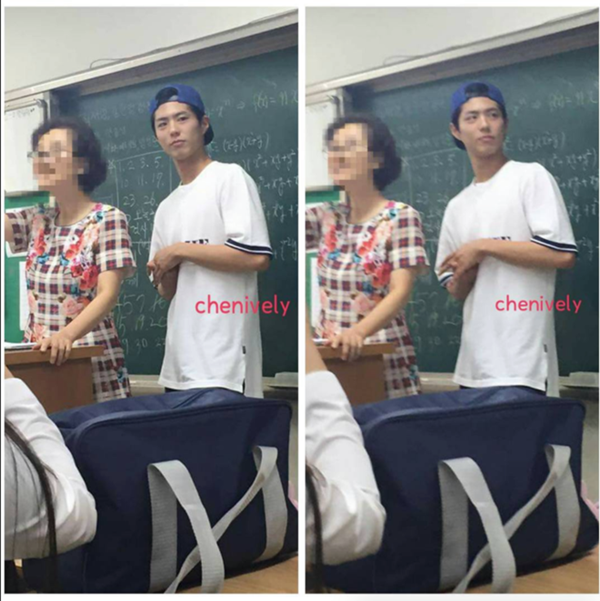 Park Bo Gum giản dị trở về trường thăm cô giáo cũ