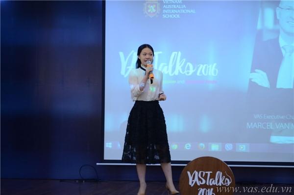 Cựu học sinh Anh Phương chia sẻ về việc theo đuổi đam mê từ khi ngồi dưới mái trường VAS. (Ảnh: VAS)