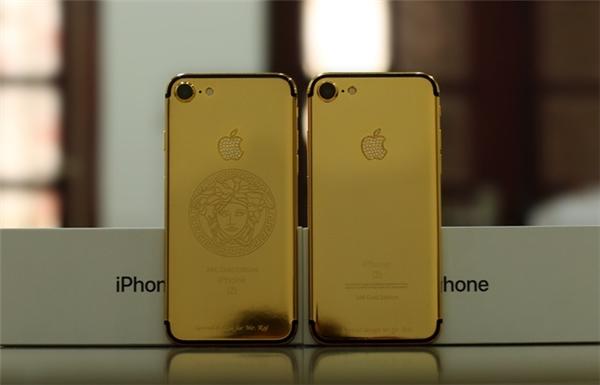 Mẫu hình ảnh đặc biệt khác trên iPhone 7 mạ vàng. (Ảnh: internet)