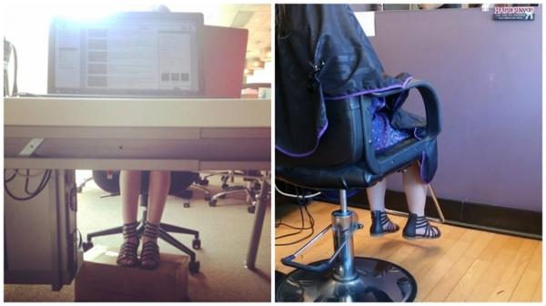 """Đôi chân của họluôn được duy trì ở trạng thái """"lơ lửng"""" dù là ngồi ghế nào."""