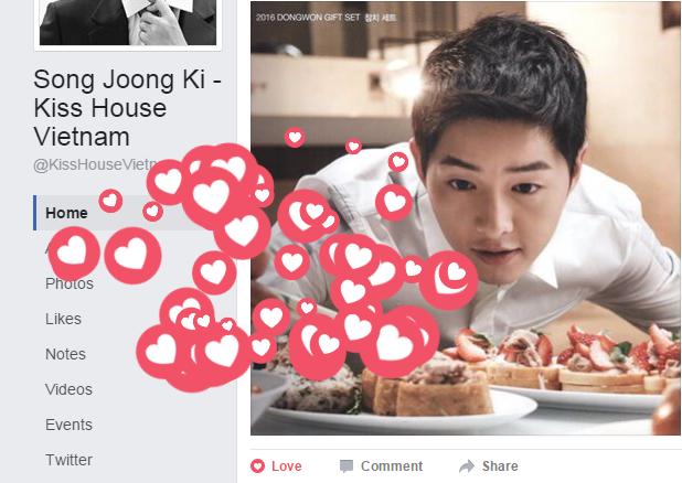 """Bạn có thể """"thả tim"""" tràn ngập khắp mọi nơi trên Facebookđể thể hiện tình yêu của mình."""