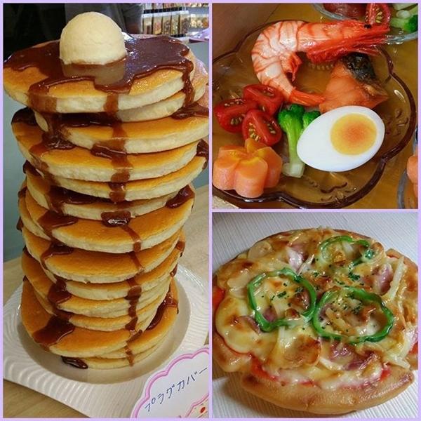 Những món tráng miệng như pizza hay bánh gato được phủ sốt đều màu và đẹp mắt.