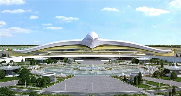 Sân bay mới của Turkmenistan, có hình dáng một con chim ưng