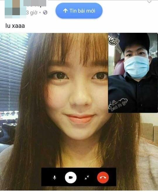 """Các anh chàng thi nhau đăng ảnh của cô gái xinh đẹp KimSo Hyunđang gọi """"video call"""" cho mình. (Ảnh: Internet)"""