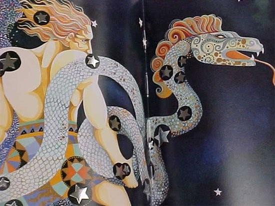 Biểu tượng của cung hoàng đạo Xà Phu là một người đàn ông cường trángđang nắm giữcon rắn khổng lồ Anaconda.
