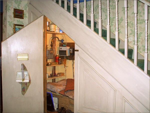 """Căn phòng dưới gầm cầu thang""""huyền thoại"""".(Ảnh: Internet)"""