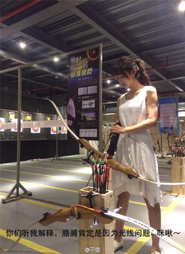 Choáng váng với sự xuất hiện của mĩ nhân bắn cung đẹp hơn tranh vẽ