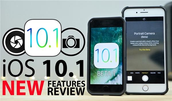 Bản cập nhật mới nhất iOS 10.1 beta dành riêng cho iPhone 7 Plus. (Ảnh: internet)