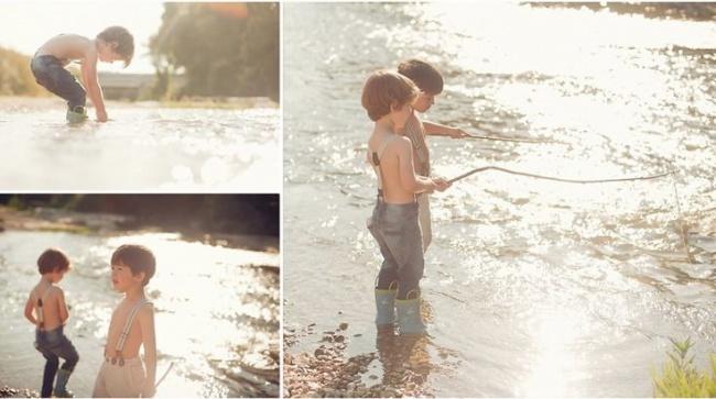 Hai anh em nhà tớ rấtthíchcâu cá, mặc dù rất hiếm khi cá chịu cắn câu.
